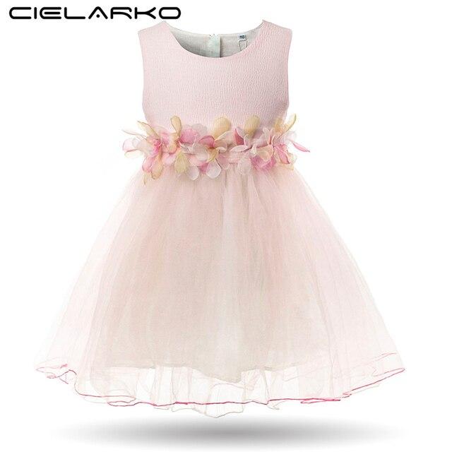 32fcc788171e Cielarko Party Dress for Girls Princess Formal Flower Baby Dresses ...