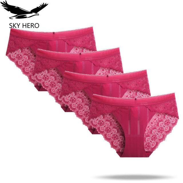 c30175b42 SKY HERO Woman Underwear Bamboo Panties Ondergoed Dames Slips Knickers  Womens Seamless Culotte Femme Cotton Lace