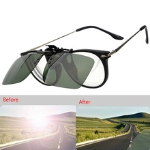 Car Driver Clip Goggles Night Vision  Protective Sunglasses Anti-UV Anti Glare Night Vision Interior Accessories все цены