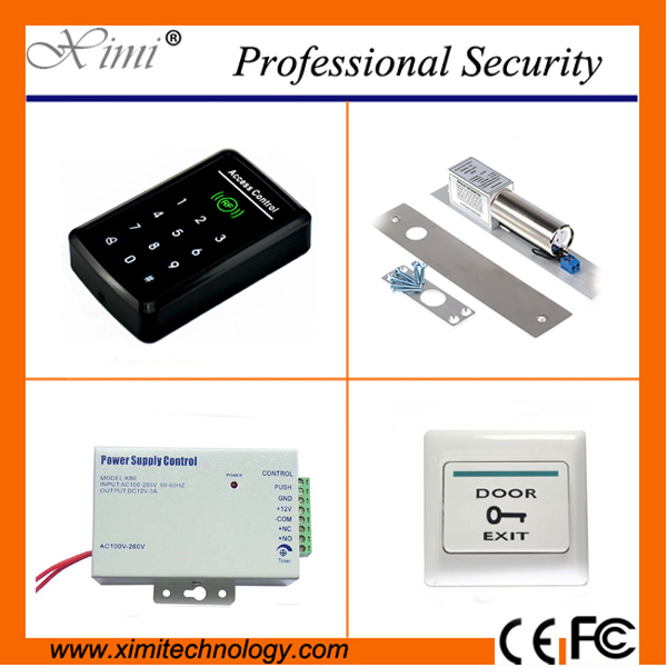 Good quality with touch keypad F008 single access control with password door control RFID card reader door access control outdoor mf 13 56mhz weigand 26 door access control rfid card reader with two led lights