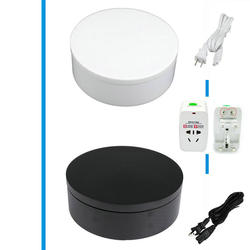 HQ EL2 200X50MM Both Ways 360 Electric Turntable Display Stand For Jewelry Four Speed And Two Color Choice With FUSE Protection