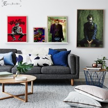 Joker Figure Movie Artwork Posters and Prints Wall art Decorative Picture Canvas Painting For Living Room Home Decor Unframed predator movie figure artwork posters and prints wall art decorative picture canvas painting for living room home decor unframed