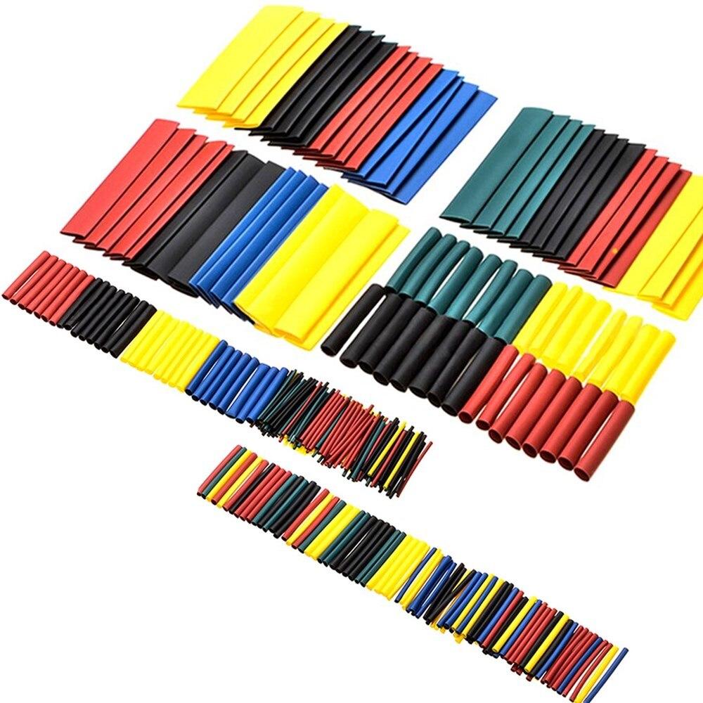 328 pièces coloré 2:1 polyoléfine thermorétractable Tube manchon fil ensemble