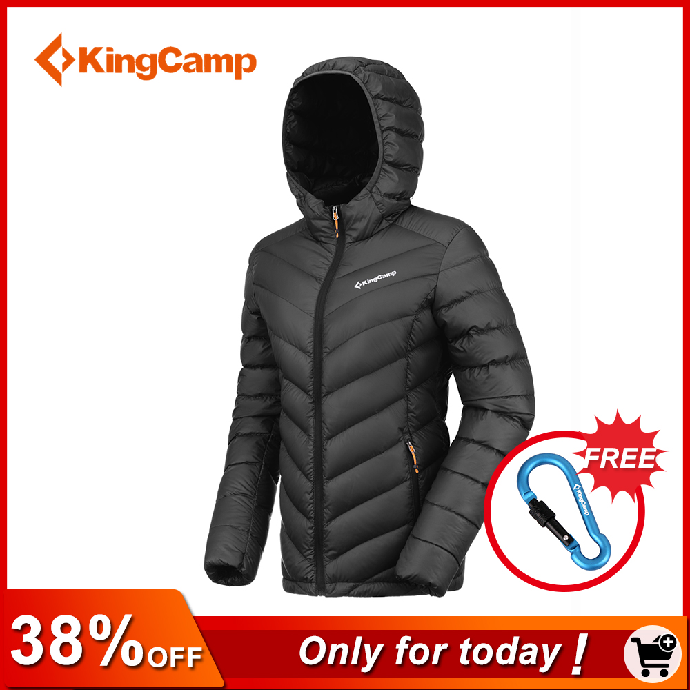 купить KingCamp Women's Hooded Packable Ultra Light Weight Thickened Down Jacket Winter Waterproof 90% Down Sweater Outwear по цене 2825.3 рублей