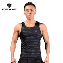 FANNAI Men Running Shirt Compression Tights Vest Gym Tank Top Shirts Fitness Sleeveless T-shirts Sports Clothing Jogging