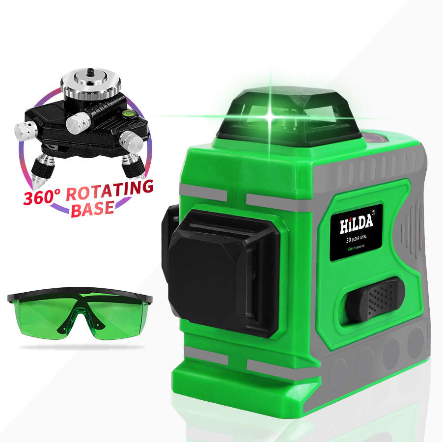 Vertical Cross Super Powerful Green Laser Beam Line And12 Lines 3D Level Self-Leveling 360 HorizontalVertical Cross Super Powerful Green Laser Beam Line And12 Lines 3D Level Self-Leveling 360 Horizontal
