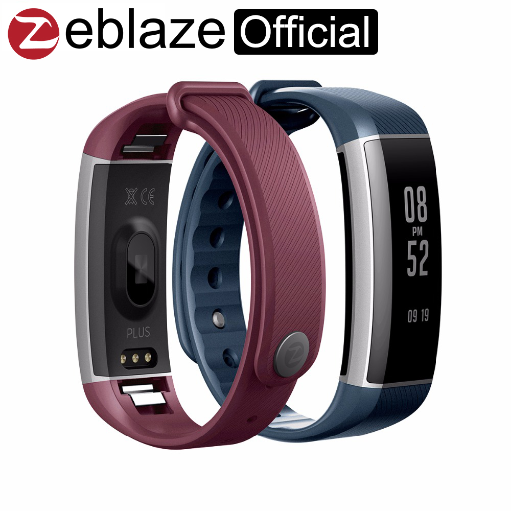 Zeblaze Zeband Plus Heart Rate Monitor Multisport Record Management Fitness Tracker for both iOS and font