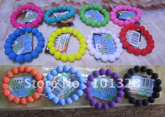 Wholesale rubber bangle  silicone bead bracelets