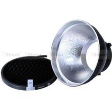 Combo : 18 см металл хромой тень отражатель Softbox диффузор + сотовые сетка для Bowens фотостудия строб вспышка