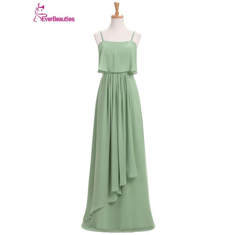 Bridesmaid     Dresses   Long 2019 Chiffon with Pleat Floor-Length brautjungfernkleid Bride Banquet   Dress   Robe Demoiselle D'Honneur