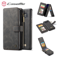 Caseme Wallet Leather Flip Case For Samsung Galaxy Note 8 Case Hang Rope Card Slot Magnetic