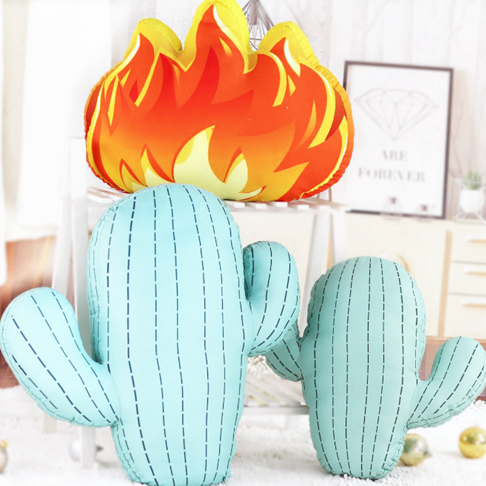 Nordic 3d Decorative Cactus Pillow Stuffed Doll Backrest Home Decor Birthday Present Green Cactus Plush Toys Photography Props Toys & Hobbies