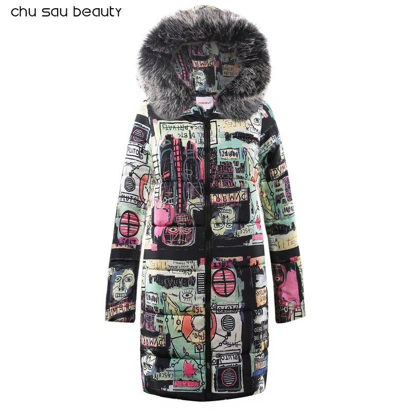 Women Parka Fashion Fur Autumn Winter Warm Jackets Women Collar Coats Long Parkas Hoodies Office Lady Cotton Plus Size