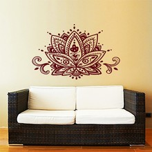 DIYWS Lotus Blume Wandtattoo Yoga Studio Vinyl Aufkleber