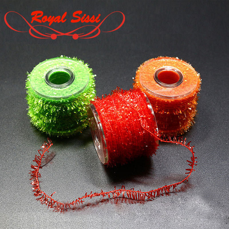 10 Colors Tinsel Chenille line Crystal Flash pesca bobbin thread lines fly fishing tying materials for nymphal bugs scud flies