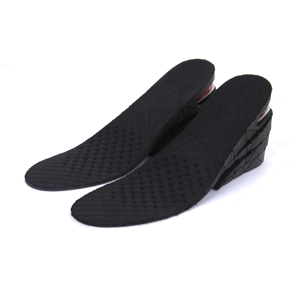 2 Pairs Air cushion lift insoles Trimming 4-Layer Air up Height Increase Shoes Insole Lift Kit Inserts for Men Women
