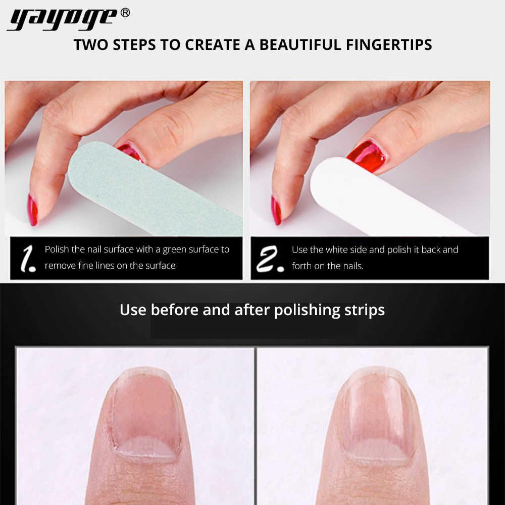 Bloque tampón yayoge de doble cara para manicura, dispositivo de manicura, imán para espuma de Gel UV 3 unids/caja de uñas blancas verdes DIY