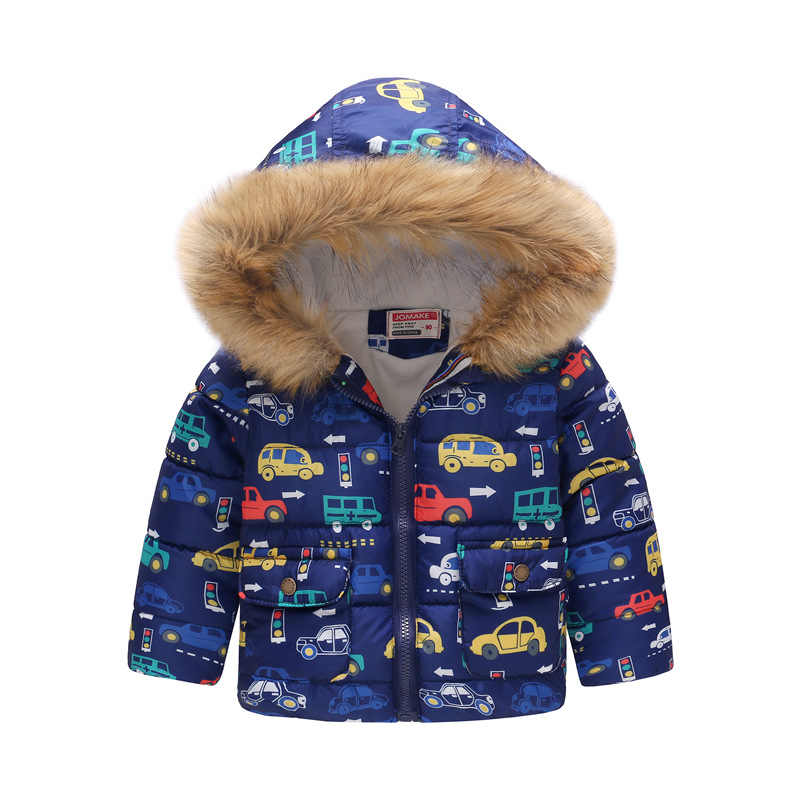 boys winter coat 2018 Autumn  kids down Jacket for  Children Clothing Hooded Outerwear Baby Boy toddler Clothes 4 5 6 7 8  Year