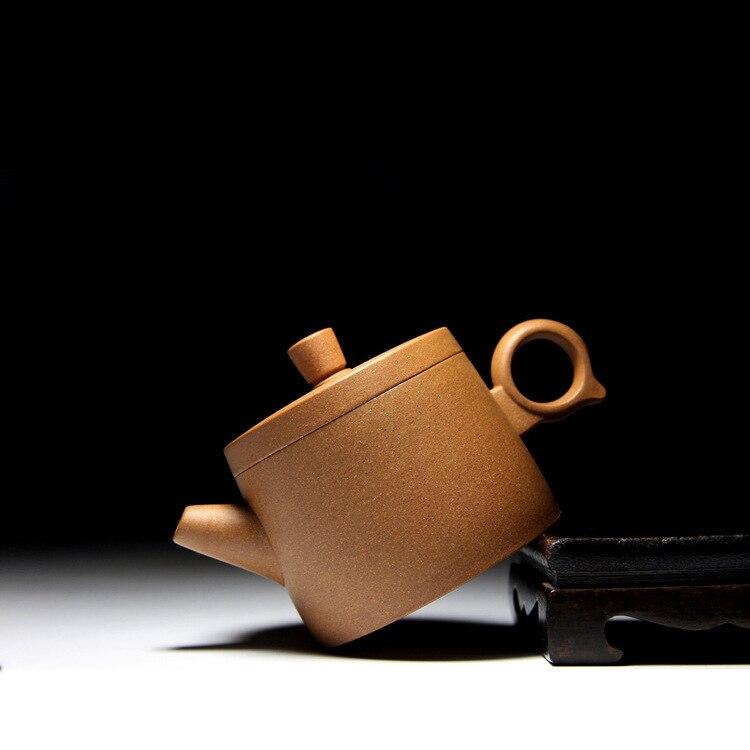 Célèbre famille fait à la main qualité brut Mine pente boue Hanwa anneau violet sable Pot Kungfu Teaware Set cadeau personnalisation - 2
