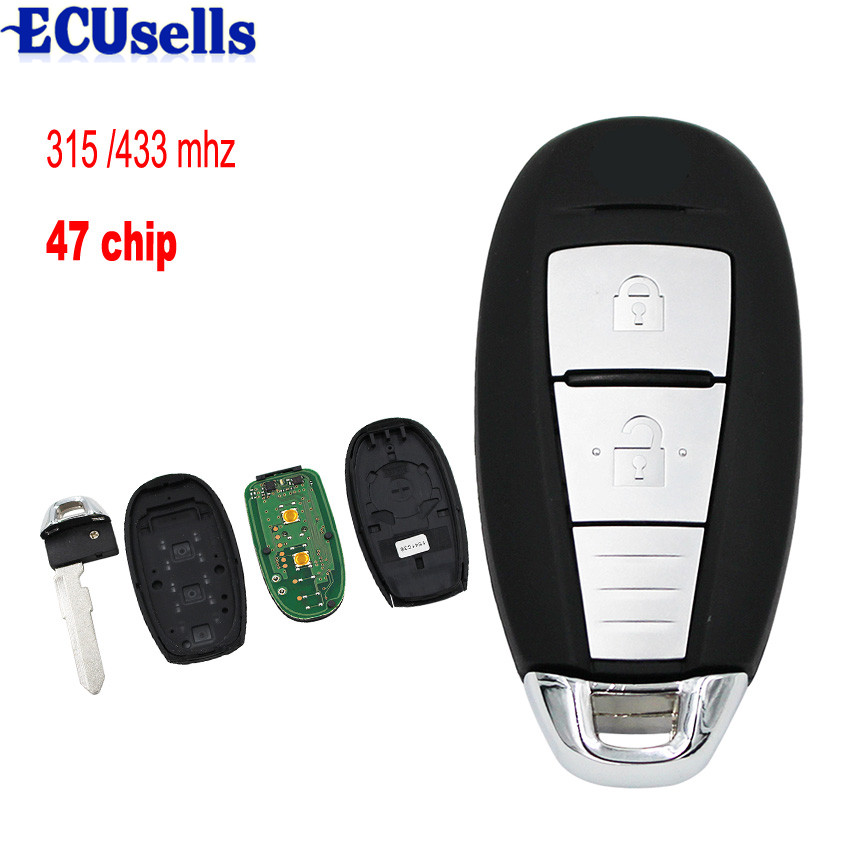 OEM Keyless Entry 2 Buttons Smart Remote Car Key for Suzuki Vitara 315 MHZ 433MHZ With