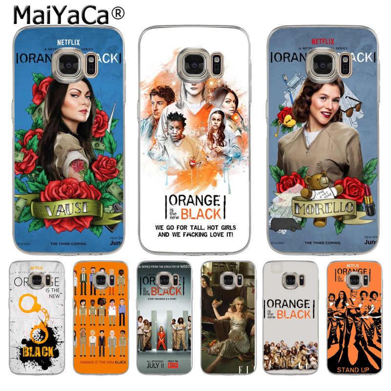 MaiYaCa البرتقالي هو جديد الأسود المشارك تلفزيوني لينة الهاتف حقيبة لهاتف سامسونج S5 S6 S7 حافة S8 زائد S6 حافة زائد S9 S9 زائد