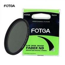 FOTGA 페이더 가변 조절 가능 슬림 중립 밀도 ND 렌즈 필터 ND2 ~ ND400 43/46/52/55/58/62/67/72/77/82/86mm Nikon 용