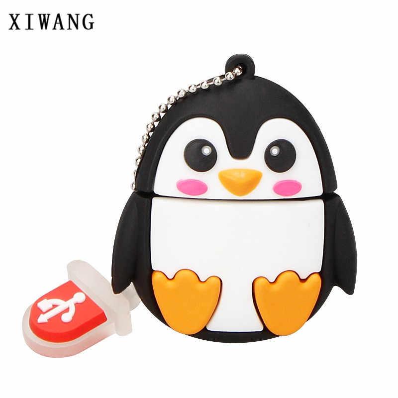 De dibujos animados lindo pingüino buho fox pendrive pen drive 1 GB 2 GB 4 GB 8 GB 16 GB USB flash drive 32 GB 64 GB GB de memoria 128 gb palo animal envío gratis