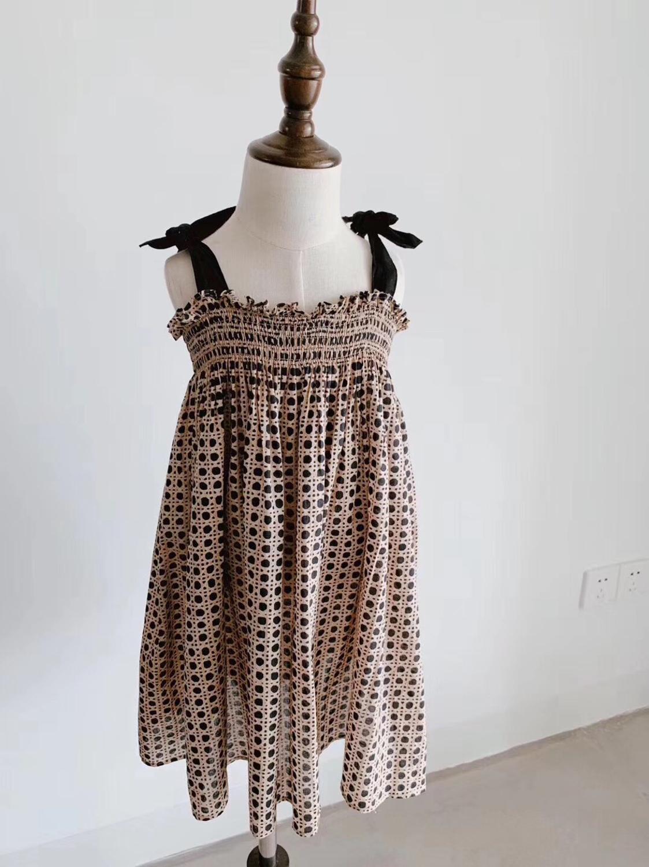 2019 nouveau été Silp robe noir Dot robe bébé Boutique princesse robe de soirée pour les filles vêtements ourwear marque