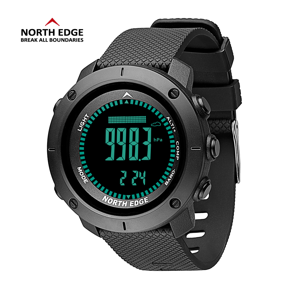 North Edge Men Watches Sport Military Digital Watch Barometer Altimeter Clock Men Compass Waterproof Watch Sport
