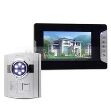 """DIYSECUR Intercomunicador Seguridad Para El Hogar Video de La Puerta Sistema de Teléfono 1 x 700TVL Cámara 1×7 """"Monitor"""