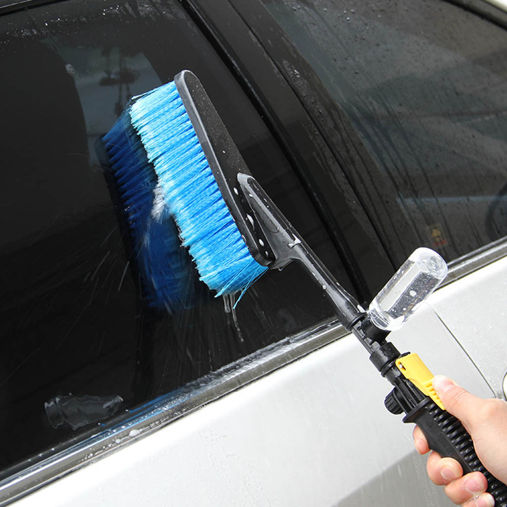 Car Wash Brush Retractable Long Handle Water Flow Detector Foam Bottle Cleaning Car Cleaning Brush Tools