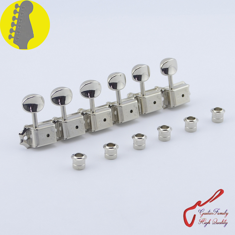 Original Genuine 6 In-line GOTOH SD91-05M-HAPM  Kluson Vintage  Guitar Locking Machine Heads Tuners  ( Nickel ) MADE IN JAPAN 1 set guitarfamily 6 in line kluson vintage guitar machine heads tuners nickel made in korea