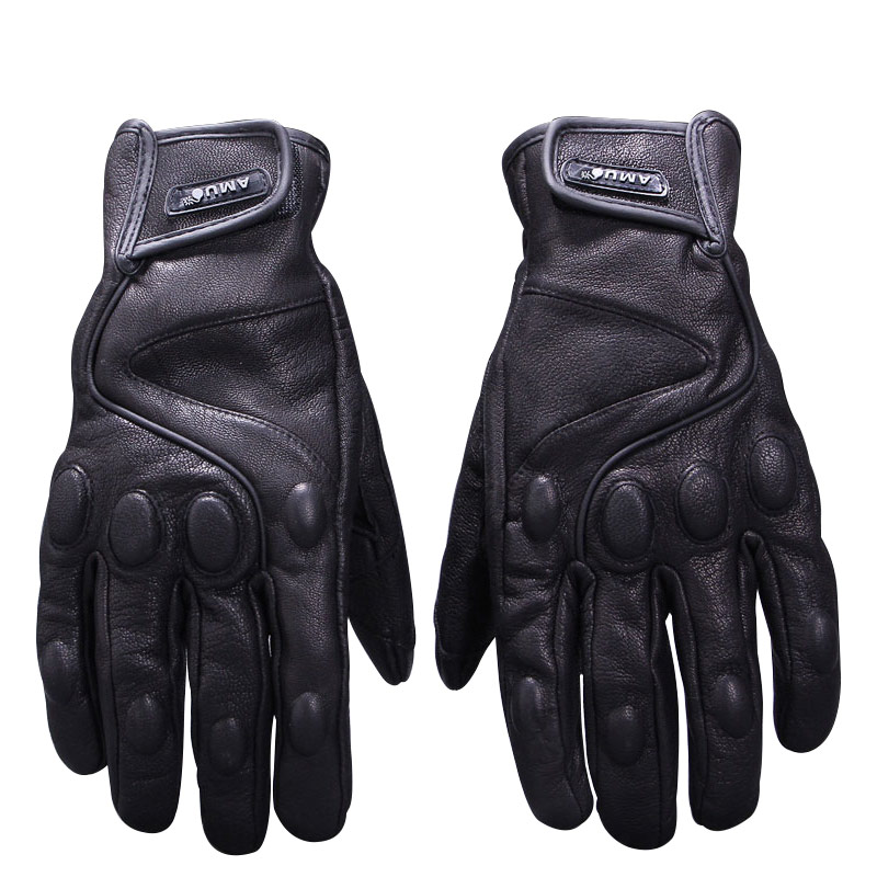 New full finger motorcycle gloves genuine leather retro vintage motorbike gloves fashion Windproof Locomotive gloves