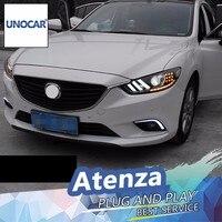 UNOCAR For Mazda 6 Atenza LED Headlight Mazda6 Headlights DRL Lens Double Beam H7 HID Xenon
