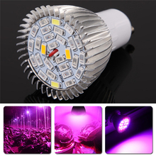 Full Spectrum LED Grow Light AC85-265V 28W GU10 Spotlight Lamp Bulb Flower Plant Greenhouse Hydroponics System for Grow Box