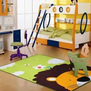 Kids Carpets for Living Room 100% Nylon Lovely Lion Head Kids Play Mats Baby Carpet Rugs Rawling Mat Carpets for Livingroom