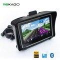 Бесплатная Доставка 4.3 дюймов WinCE 6.0 HD водонепроницаемый IPX7 GPS Мотоцикл Навигатор + Bluetooth + 8 ГБ Внутренний + Последние карты
