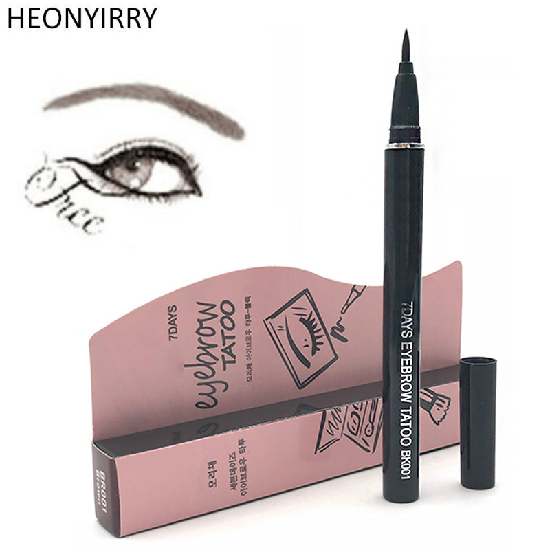 Tattoo Eyebrow Enhancers Women Makeup Eyebrow Pencil Product Waterproof Brown 7 Days Eye Brow Eyebrow Tattoo Pen Liner Makeup image