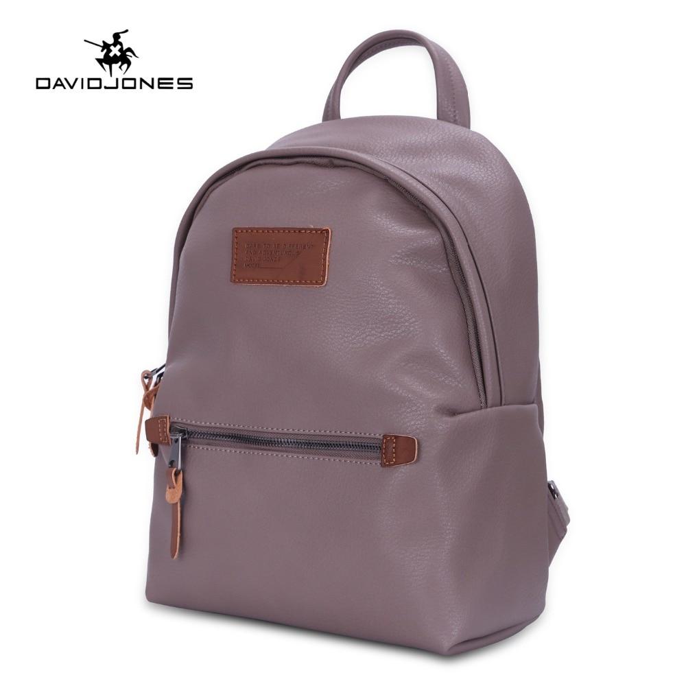 7a7e045639f3 DAVIDJONES women shoulder bags pu leather female backpacks big lady solid school  bag girl brand teenager
