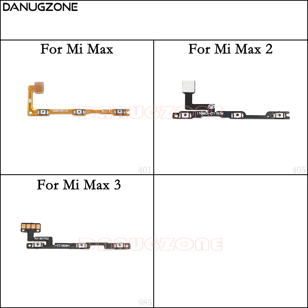 Power Button On / Off Volume Mute Switch Button Flex Cable For Xiaomi Mi Max 2 3 Max2 Max3