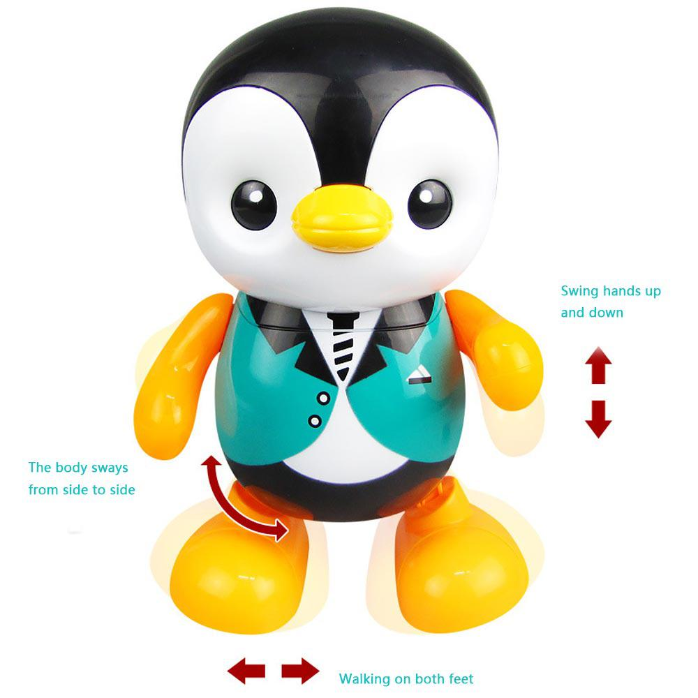 Electric Flashing Led Music Dancing Penguin Cute Funny Swing Animal Toy Electric Light Toys Gifts For Children Kids