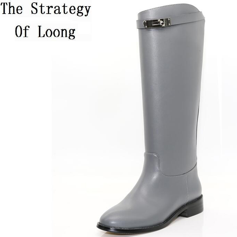 2019 ฤดูหนาวใหม่ของแท้หนังสั้นยาวรองเท้าสตรีฤดูใบไม้ผลิฤดูใบไม้ร่วงวัวหนังเข่าสีเข่าสูง Boot ZY170929-ใน รองเท้าบู๊ทสูงระดับเข่า จาก รองเท้า บน AliExpress - 11.11_สิบเอ็ด สิบเอ็ดวันคนโสด 1