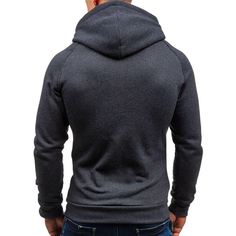 2020 Men Hoodie Sweatshirt New Casual Solid Long Sleeve Mens Hoodies Slim Zipper Hooded Cardigan Sweatshirts Men Hoody Sweat Homme 1