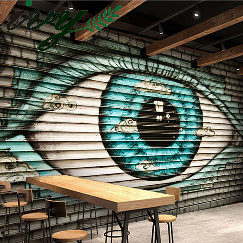 IVY MORDEN Large Graffiti Wallpaper Big Eyes Modern Wall Papers Custom 3D Murals for Walls Home Decor Living Room TV Background custom photo 3d ceiling murals wall paper blue sky rose flower dove room decor painting 3d wall murals wallpaper for walls 3 d
