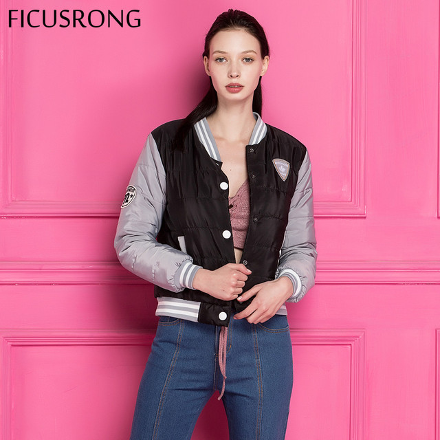 FICUSRONG 2019 Fashion Autumn Winter Jacket Women Short Parkas Coat Slim Casual Winter Coat Women Warm Parka chaqueta mujer
