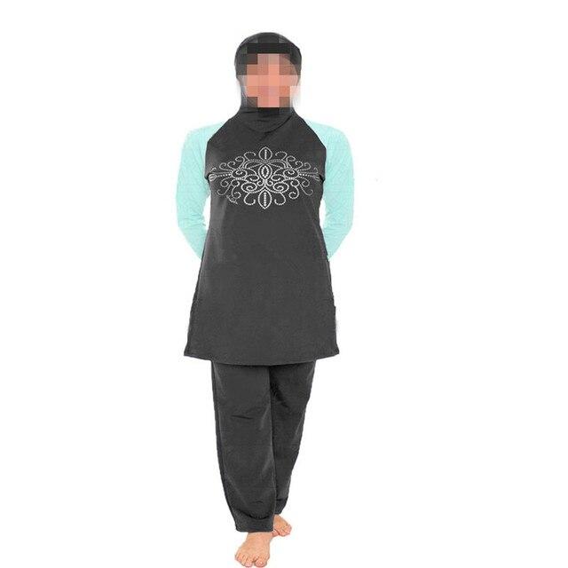 52562b93035da modest swimsuits Full islamic swimwear Women muslim bathing suit muslimah swimming  swim adulte Arab Beach Wear high waist hijabs