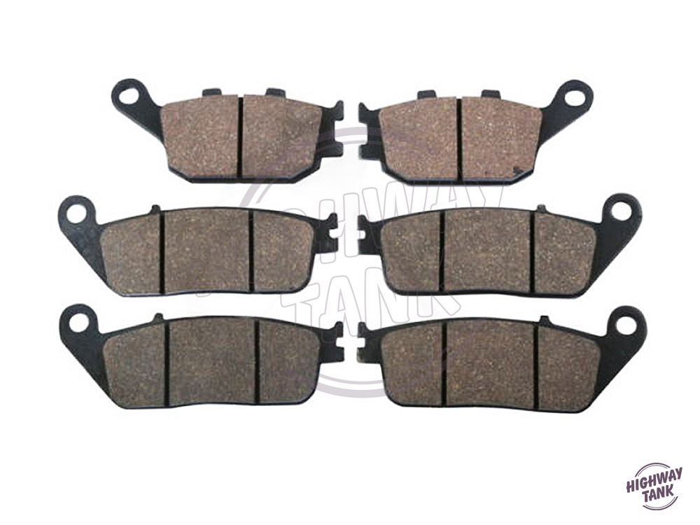 ФОТО 6 Pcs Motorcycle Front & Rear Brake Pads case for HONDA CB 750 N SEVEN FIFTY 1992 1993 1994 1995 1996 1997 1998 1999 2000-2002