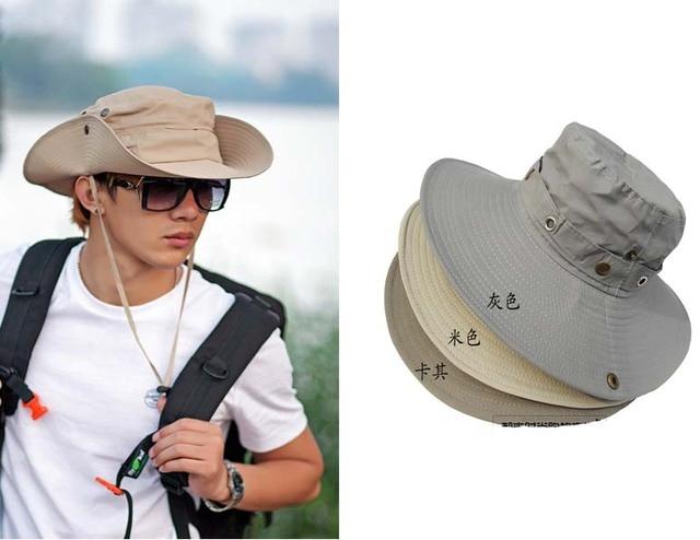 Men s plain Bucket Caps Safari Hat Hunter Caps Wide Brim Boonie -in ... c45d858a9ee
