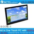 "13.3 ""incorporado all-in-one pc industrial pc touchscreen resistiva de 4 fios do computador intel celeron 1037u 1.8 ghz 2g ram 32g ssd"