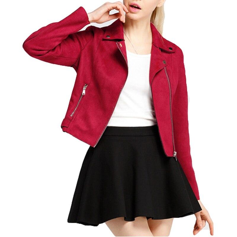 Marque vêtements Chamois cuir nouvelle dame mode vestes printemps femmes manches longues Slim Vintage manteaux femmes automne vestes